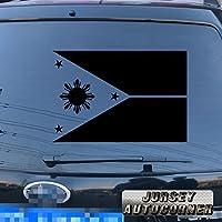 3s MOTORLINEフィリピンの国旗eight-ray Sunデカールステッカー車ビニールPickサイズカラーDie Cut 4'' (10.2cm) ブラック 20180410s2