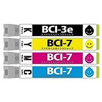 CA社用 BCI-7e+3eBK 4色セット 互換インクカートリッジ【増量】【ICチップ付(残量表示機能付)】