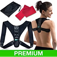 Body Wellness Posture Corrector for Women & Men - Thoracic Back Brace for Perfect Posture - Adjustable and Comfortable Clavicle Brace - Posture Fixer - Resistance Band & Bag Included by moldAP