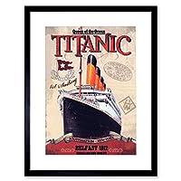 Travel Titanic Liner Disaster Queen Ocean Picture Framed Wall Art Print 旅行ライナークイーン海洋画像壁