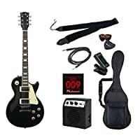 PhotoGenic エレキギター 初心者入門ライトセット レスポールタイプ LP-260/BK ブラック