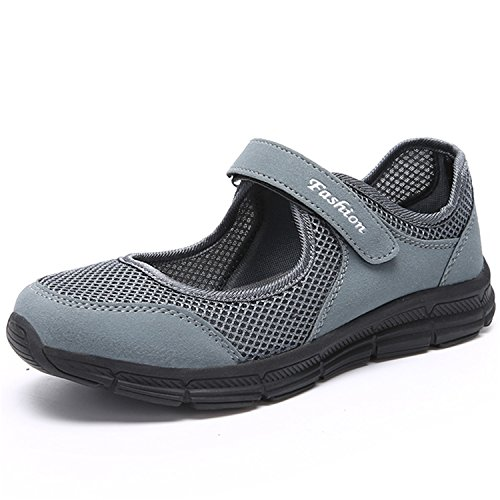 JOINFREE 女性専用婦人靴人気新品機能性超軽量有酸素運動川遊び夏のアクティビティ濃い灰色24.0Cm