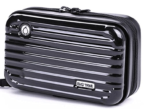 ビッグツリー 多機能ポーチ ミニ スーツケース型 コンパクト ハードケース 全4色(ブラック)