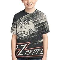 Led Zeppelin ゆったりとしたラウンドネックの快適さ、男の子のTシャツ
