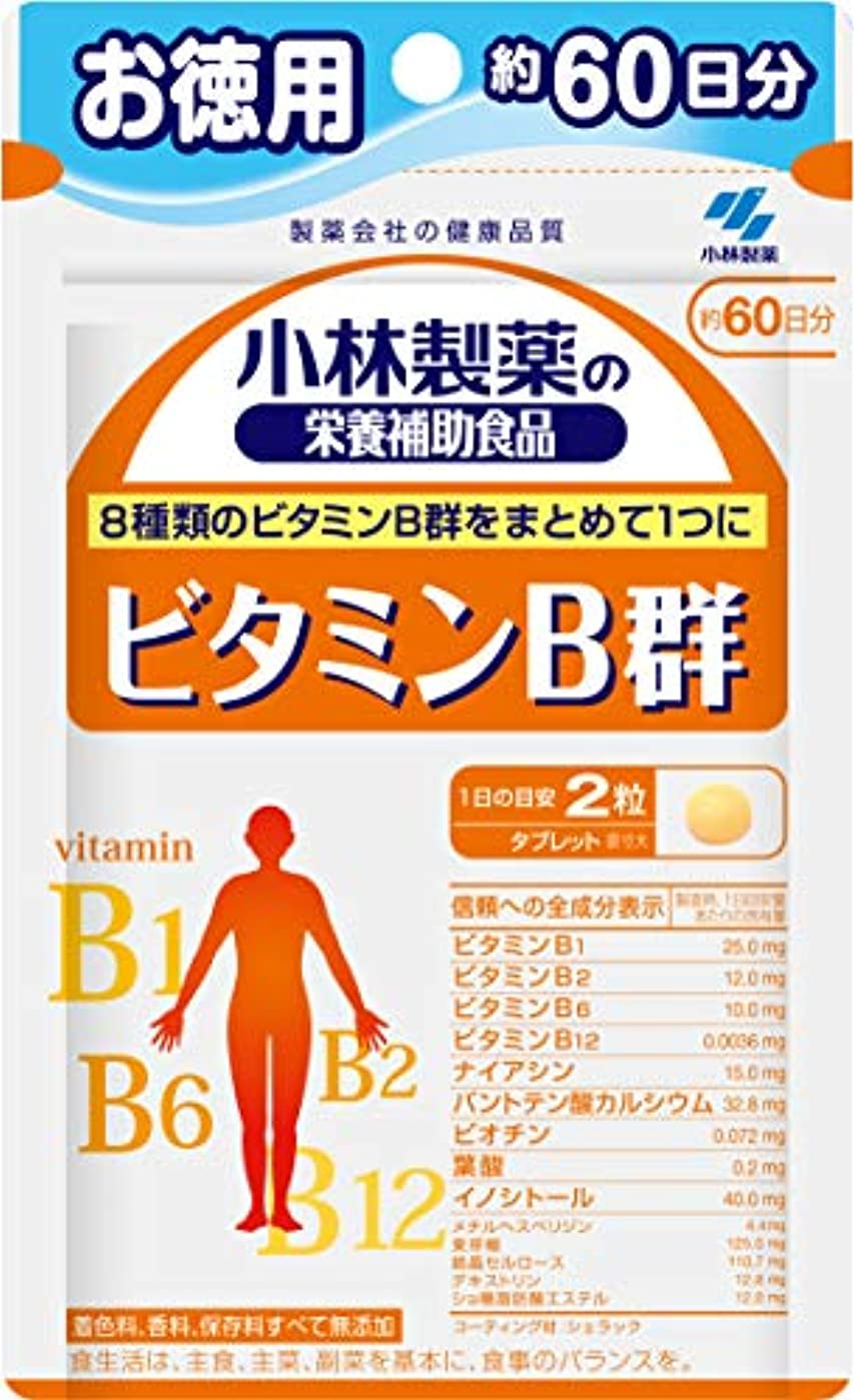 生マイナーハロウィン小林製薬の栄養補助食品 ビタミンB群 お徳用 約60日分 120粒