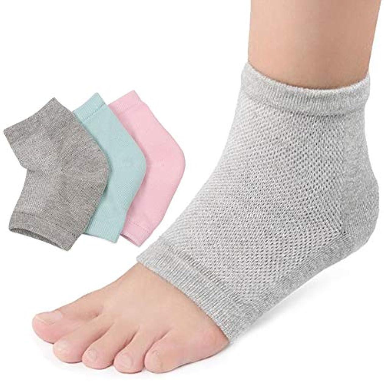 ロイヤリティ小麦堂々たる3足セットかかと 靴下 かかとケア つるつる ジェル 靴下 角質 ケア 保湿 美容 角質除去足ケア 男女兼用