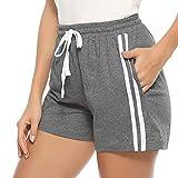 Hawiton 1 & 2 Pack Women's Plaid Cotton Sleeping Pajama Shorts Lounge Boxer Drawstring Bottoms