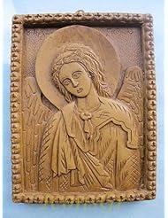 Handmade Carved Aromaticワックスから祝福アイコンアトスのArchangel Gabriel 173