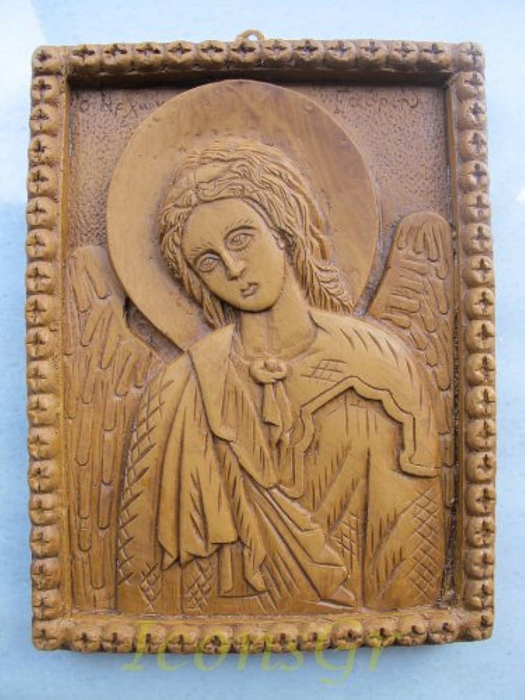 征服者テレビ局哲学的Handmade Carved Aromaticワックスから祝福アイコンアトスのArchangel Gabriel 173