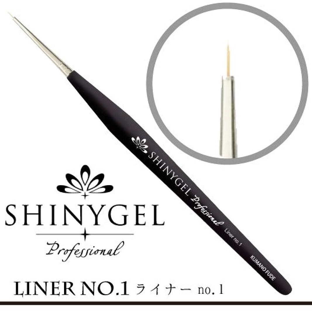 忠実豆前方へSHINY GEL ライナーブラシ No.1(専用キャップ付)