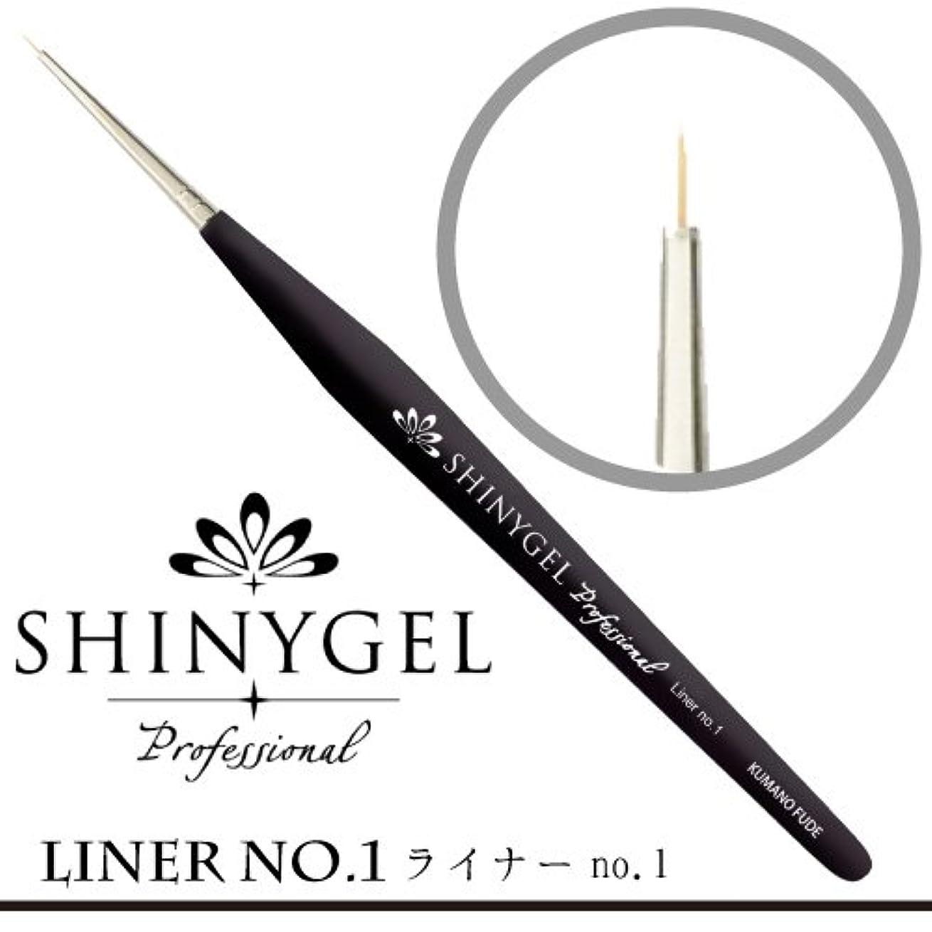 お風呂関数パターンSHINY GEL ライナーブラシ No.1(専用キャップ付)