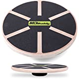 """MDBuddy Balance Board - Premium Wooden Wobble Board - 16"""" Round Balance Trainer - Fit Board / Exercise Board For Core Training Fitness Workouts, Physical Therapy & Rehabilitation"""