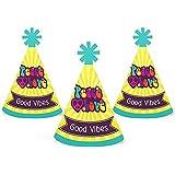60のヒッピー – Mini円錐1960s Groovy Party Hats – Small Little Party Hats – 10のセット