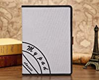 Wkae Case Cover キャンバススタンプケースカバーpuレザーケーススタンドケースipad用空気5手ストラップ きゃんばすすたんぷけ゜すかば゜puれざ゜け゜すすたんどけ゜すipadようくうき5てすとらっぷ ( PATTERN : 5 )