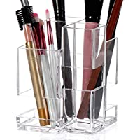 Linyuan Clear 化粧品 Organizer for Vanity Cabinet to Hold Makeup Brushes