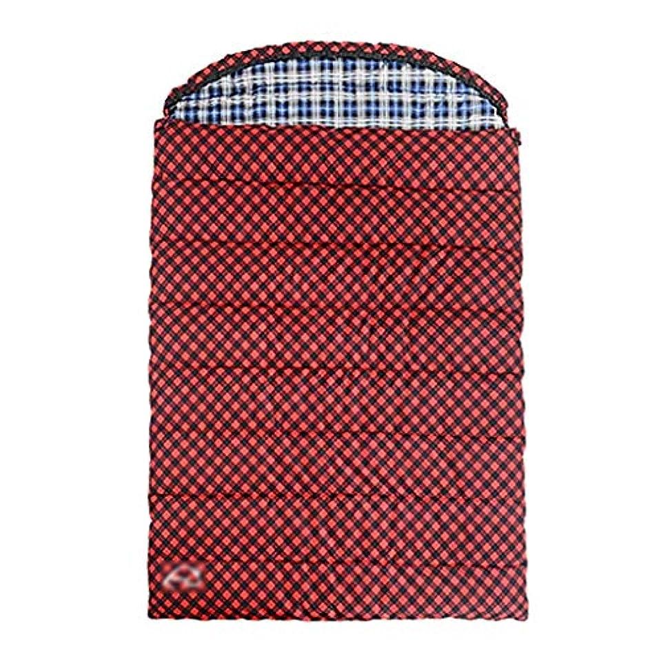 吐き出すペチコート動く寝袋?シュラフ キャンプ用寝袋キャンプ寝袋大人の寝袋屋外の寝袋大人の屋内四季厚い暖かいキャンプダブル寝袋 寝袋?シュラフ (Color : Red, Size : 220*145cm)