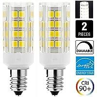 セラミックス E14 口金 6W LED電球 50W 75W 100W ハロゲンランプ相当 1000LM LEDランプ トウモロコシライト 調光可能 2個セット (昼白色6000K)