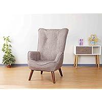 ドウシシャ 高座椅子 1人掛けソファー なごみハイバックチェア 肘付き 座椅子 コンパクト収納可 ベージュ NHBC-BE