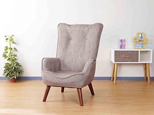 ドウシシャ 高座椅子 1人掛けソファー なごみハイバックチェア 肘付き 座椅子 コンパクト収納可 ベージュ N...