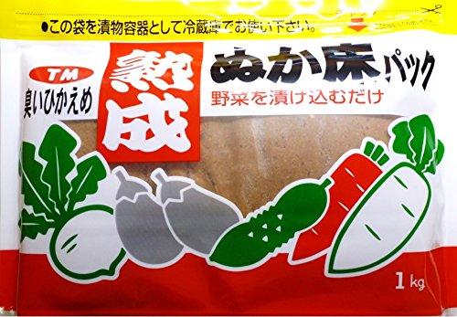奈良つけもん屋の 熟成ぬか床パック(冷蔵庫用) 1kg...