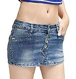 (マゴット) Maggot デニム ショートパンツ レディース きれいめ 選べて嬉しい 6タイプ 6サイズ ミニスカート ではありません 部屋着 ストレッチ 大きいサイズ (Aタイプ 1. S サイズ)