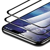 ESR iPhone XR 液晶保護フィルム [3D +最大限保護] [全面フルカバー] プレミアム強化ガラスフィルム 対応機種:iPhone XR 6.1インチ(2018年発売)ブラック 2枚セット