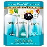 【セット品】資生堂 ツバキ (TSUBAKI) さらさらストレート シャンプー450ml&コンディショナー450ml&トリートメントセット(特製サイズ付き100g)