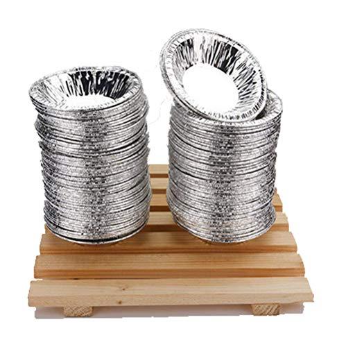 Aibrou タルト型 使い捨てベーキング アルミ箔カップ ケーキ型 モールドカップ 家庭用 DIY製菓用品 レストラン用 ベーキング ペストリーツール 100個入