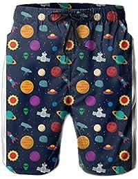 宇宙 メンズ サーフパンツ 水陸両用 水着 海パン ビーチパンツ 短パン ショーツ ビーチパンツ ショートパンツ 短パン 海パン 大きいサイズ ハワイ風 アロハ 大人気 おしゃれ 通気 速乾