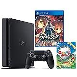 PlayStation 4 ジェット・ブラック 500GB + うたわれるもの 二人の白皇 + New みんなのGOLF ダウンロード版【Amazon.co.jp限定】オリジナルカスタムテーマ配信