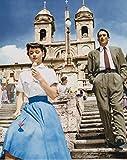 直輸入、大きな写真「ローマの休日」グレゴリー・ペック、オードリー・ヘプバーン Audrey Hepburn