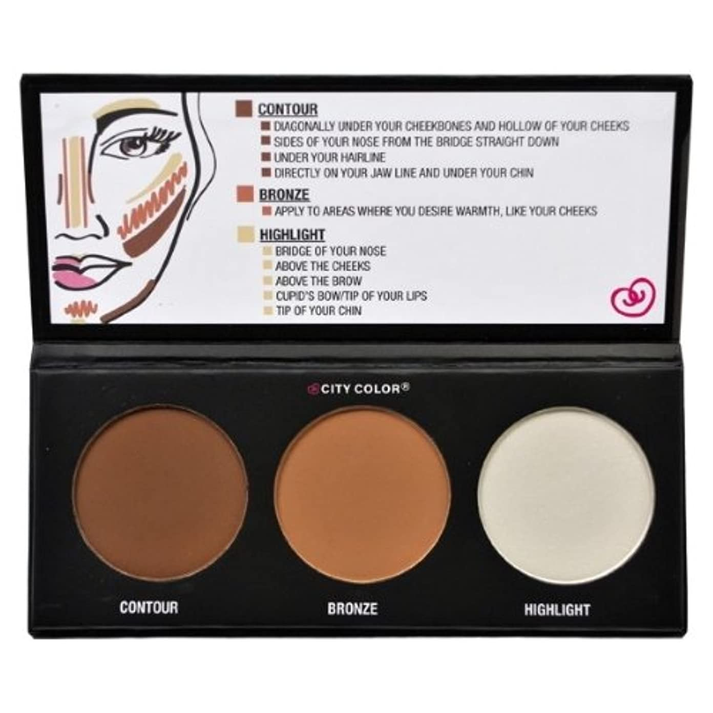 本物プロトタイプポテトCITY COLOR Contour Effects - Contour/Blush/Highlight (並行輸入品)