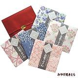 友禅染 白雪ふきん 花シリーズ 5枚セット 袋とシール付き
