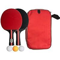 ポータブル 卓球 ラケット 卓球セット ラケット 2本 ピンポン球 3個 収納袋付き 卓球用品 卓球ラケット 卓球ボール