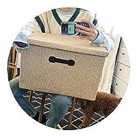 ベッドルームストレージオラクル衣類収納ボックス,草编原色,大号48*32*30 cm