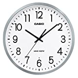 CASIO(カシオ) 掛け時計 電波 アナログ ウェーブセプター アルミ枠 シルバー IQ-2100J-8JF
