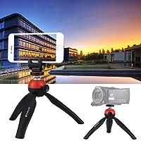 カメラアクセサリー スマートフォン用360度ボールヘッドフォンクランプ付きポケットミニ三脚マウント (Size : Tripod+clamp (r))
