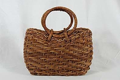 あけびのバッグ 妻胴張ホラ編み 小 リング手