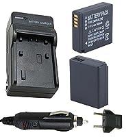 バッテリー( 2- Pack )と充電器for Panasonic dmw-blg10、dmw-blg10e、dmw-blg10pp Li - Ion充電式バッテリー