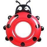 Okiiting ファッショナブルなかわいい動物水泳ラップPVC素材インフレータブル水泳リングファッションデザイン滑り止め耐久性のあるフローティングシート大人/子供に最適 うまく設計された