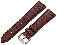 hadley-romaメンズms2010rb-22022-mm Tan Genuine Alligator Leather WatchStrap