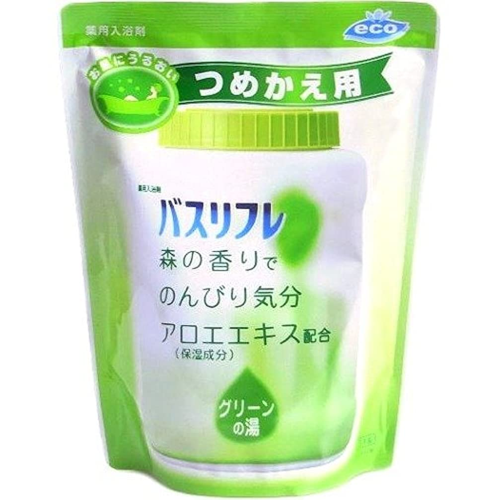 展望台樹皮こどもの宮殿薬用入浴剤 バスリフレ グリーンの湯 つめかえ用 540g 森の香り (ライオンケミカル)