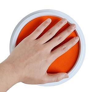 Starhealth 水性 カラフル 特大サイズ インクパッド パームペイントに最適 8色セット