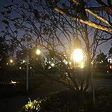 DishyKooker LED Waterproof Solar Power Pendant Light for Outdoor Courtyard Garden Corridor E27 Bulb Warm white (including light source) Lantern Family Accessories