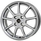HOT STUFF(ホットスタッフ)G、speed (ジースピード)G-01 アルミホイール4本セット 16インチ5.0J INSET45 PCD100 HOLE4 カラー:メタリックシルバー