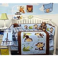SoHo Playful Monkey Baby Crib Nursery Bedding Set 14 pcs by SoHo Designs