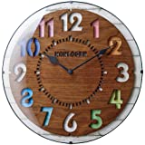 インターフォルム(INTERFORM INC.) 電波掛け時計 FORLI - フォルリ - BN ブラウン CL-8332BN