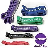 (Purple (Medium)) - Motus Edge MEDIUM Resistance Band - CrosstFit, Assisted Pull-Up Band, Mobility, Rehab, Stretching - PURPLE (18-36kg)