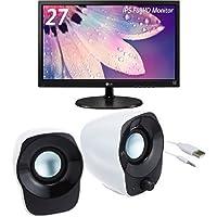 LG ディスプレイ モニター 27インチ/AH-IPS非光沢/フルHD/HDMI/ブルーライト低減機能 27MP38VQ-B  LOGICOOL スピーカーセット