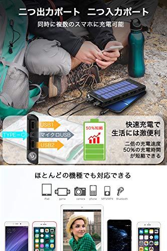 JoyhouseJP『24000mAhモバイルバッテリーソーラーチャージャー』